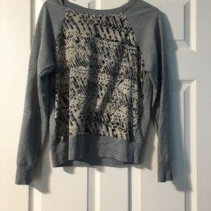 Converse gray and black sweatshirt